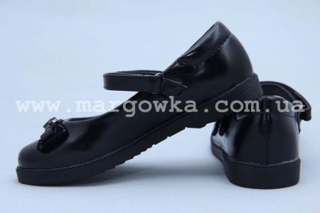 Туфли Солнце XS19-11 для девочки чёрные (A)