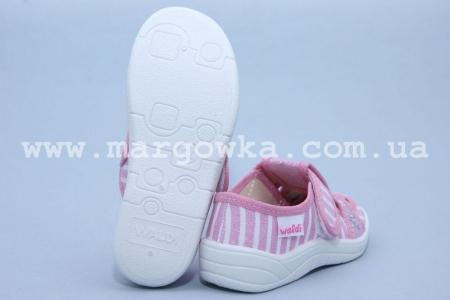 Тапочки Waldi 268/266-102 для девочки розовые (A)