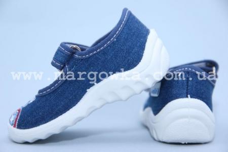 Тапочки Waldi 60-617 для мальчика синие (A)