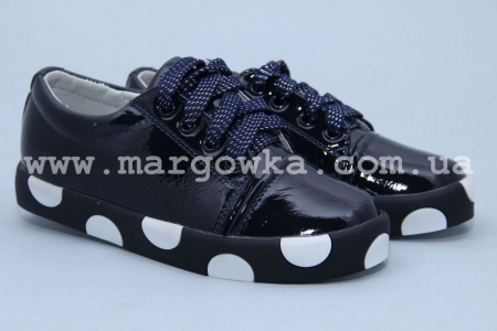 Туфли Солнце M6-5 для девочки синие (A)
