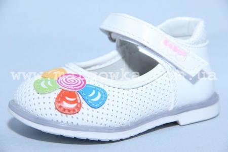 Туфли EeBb D1501 для девочки белые МАЛОМЕРЯТ! (A)