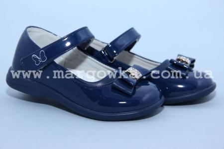 Туфли Clibee D-504 для девочки синие, МАЛОМЕРЯТ! (A)