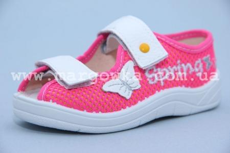 Тапочки Waldi 191-355A для девочки розовые (A)