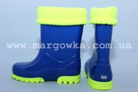 Резиновые сапоги Demar 0034a для мальчика синие (A)