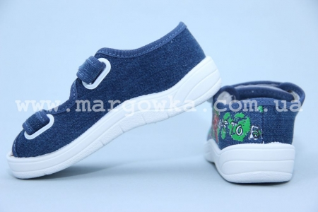 Тапочки Waldi 60-559 для мальчика синие (A)