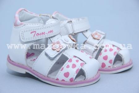 Босоножки Tom.M C-T04-64-B для девочки белые (A)