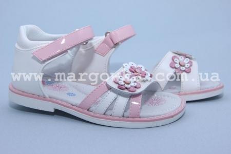 Босоножки Tom.M C-T06-04-B для девочки бело-розовые (A)