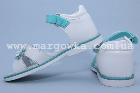 Босоножки Tom.M C-T06-04-M для девочки бело-бирюзовые (A)