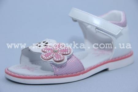 Босоножки Tom.M C-T10-01-A для девочки бело-розовые (G)