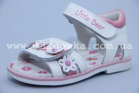 Босоножки Little Deer LD170-104 для девочки белые (A)