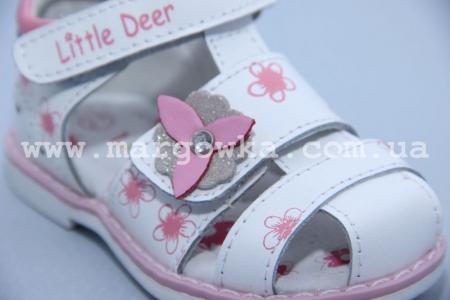 Босоножки Little Deer LD170-102 для девочки белые (G)