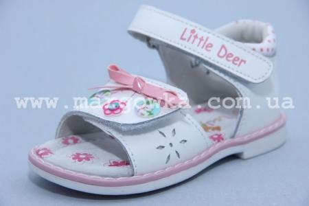 Босоножки Little Deer LD170-107 для девочки белые (A)