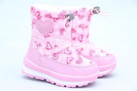 Дутики Tom.M 3875B для девочки розовые (A)