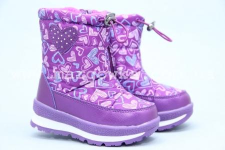 Дутики Tom.M 3875K для девочки фиолетовые (A)