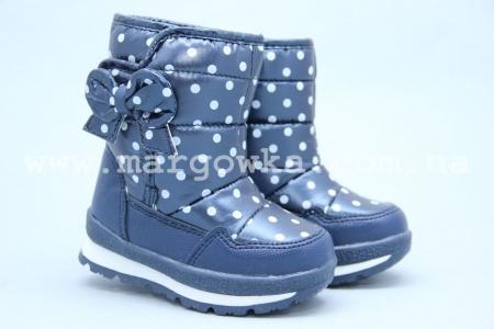 Дутики Tom.M 3573B для девочки синие (A)