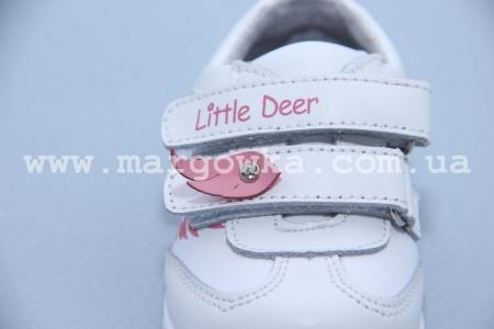 Кроссовки Little Deer (B&G) LD170-201 для девочки белые (A)
