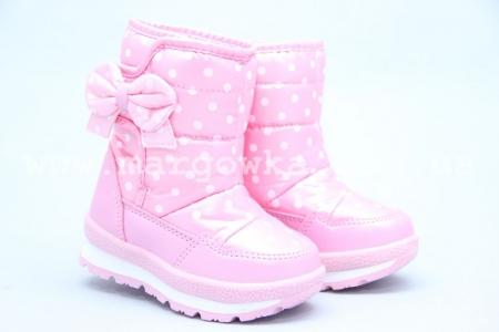 Дутики Tom.M 3573C для девочки розовые (A)