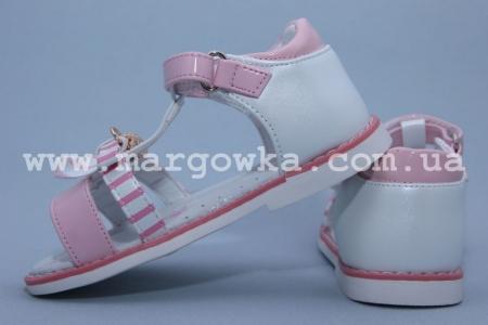 Босоножки Tom.M C-T10-02-A для девочки бело-розовые (A)