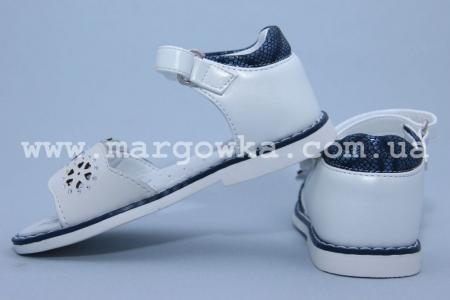 Босоножки Tom.M C-T10-01-B для девочки бело-синие (A)