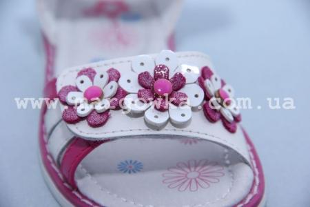 Босоножки Tom.M C-T06-04-F для девочки бело-малиновые (G)