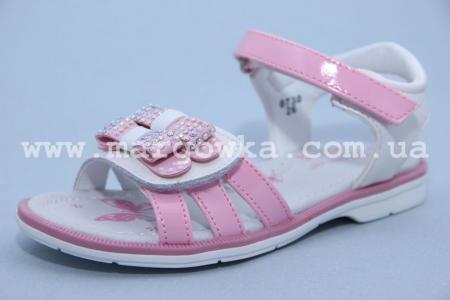 Босоножки Tom.M C-T07-30-A для девочки бело-розовые (A)