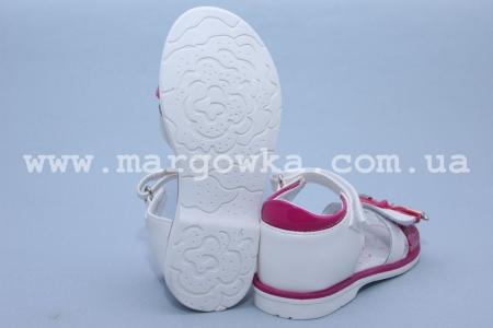 Босоножки Tom.M C-T05-73-F для девочки бело-малиновые (G)