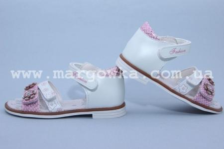 Босоножки Tom.M C-T01-75-C для девочки бело-розовые (G)