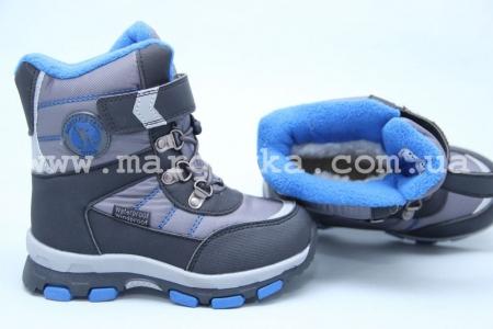 Ботинки Tom.M 3670С для мальчика серые (A)