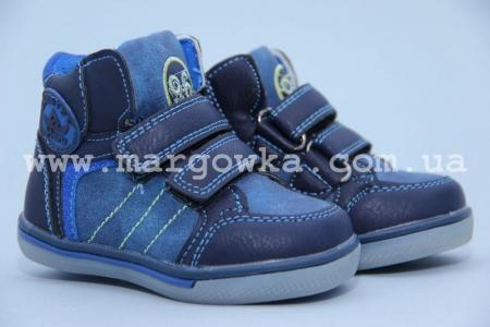 Ботинки Солнце PT17-25A для мальчика синие (A)