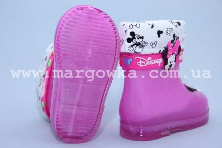 Резиновые сапоги Шалунишка E-05 для девочки розовые МАЛОМЕРЯТ! (G)