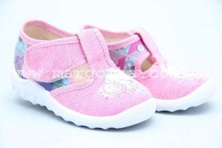 Тапочки Waldi 030 для девочки розовые (A)