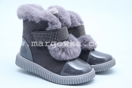 Ботинки Tom.M 3885C для девочки серые (A)