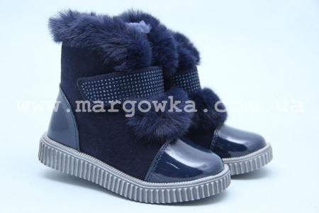 Ботинки Tom.M 3885D для девочки синие (A)
