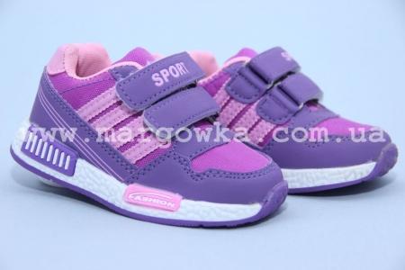 Кроссовки Солнце B1028-1C для девочки фиолетовые, МАЛОМЕРЯТ! (A)