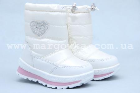 Дутики Tom.M 3571F для девочки белые (A)
