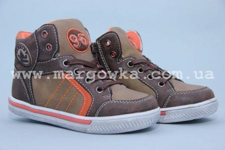 Ботинки Солнце PT7202-C для мальчика коричневые (A)