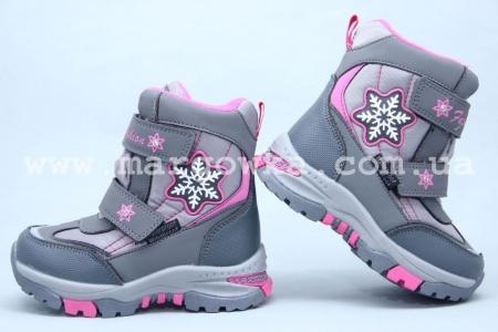 Ботинки Tom.M 3851A для девочки серые (A)