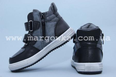 Ботинки Tom.M C-T15-90-B для мальчика чёрные (A)
