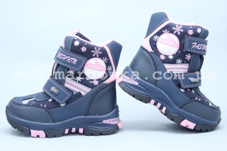 Ботинки Tom.M 3855B для девочки синие (A)