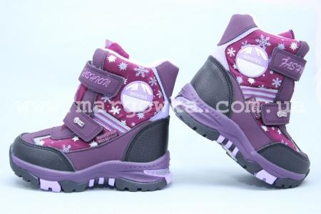 Ботинки Tom.M 3855C для девочки фиолетовые (A)