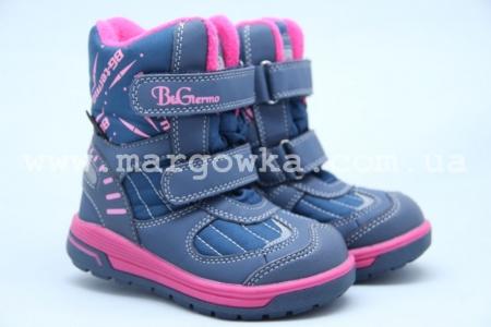Термоботинки B&G TERMO R191-1204F для девочки синие (A)