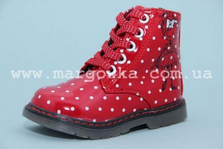 Ботинки С.Луч M566-3 для девочки красные (A)