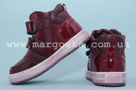 Ботинки Tom.M C-T17-78-D для девочки бордовые (G)