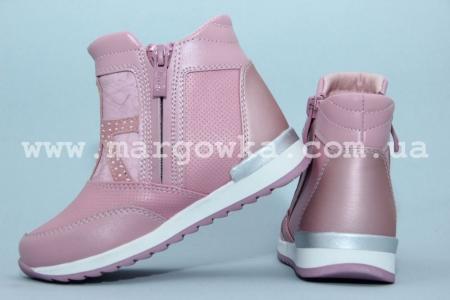 Ботинки BIKI C-B02-70-E для девочки розовые (A)