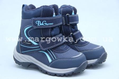 Термоботинки B&G TERMO R191-1202G для мальчика синие (A)