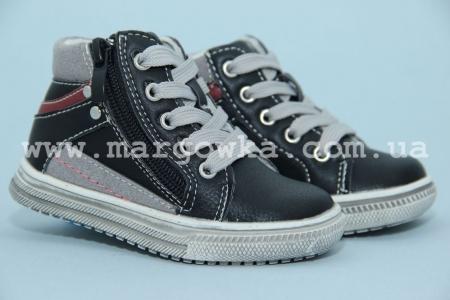 Ботинки С.Луч M168-2 для мальчика чёрные (G)