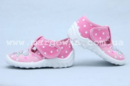 Тапочки Waldi 033 для девочки розовые (A)