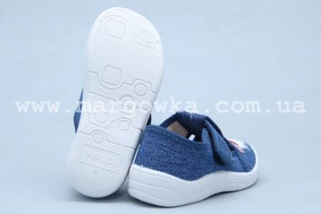 Тапочки Waldi 0055 для мальчика синие (A)