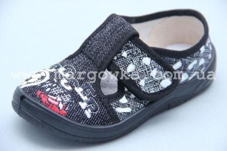Тапочки Waldi 0053 для мальчика чёрные (A)