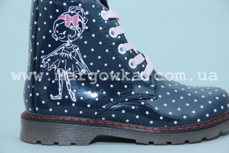 Ботинки С.Луч M570-2 для девочки синие (A)